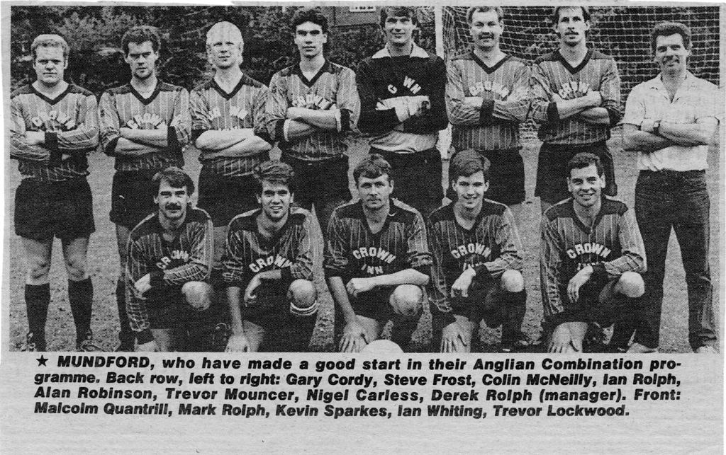 Mundford 1st XI 1984