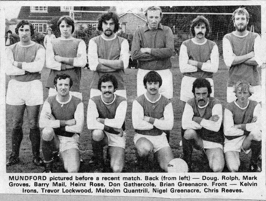 Mundford FC 1st X1 1978 Adeane Meadow Mundford