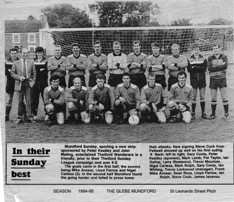 Mundford Sunday FC 1993-94